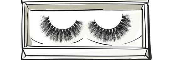 two rows of Artemes eyelashes